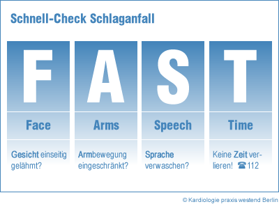 Schlaganfall FACE TEST - Kardiologe Berlin