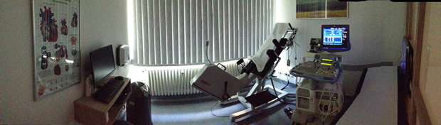 Gerät für die Echokardiografie in der praxis westend Berlin